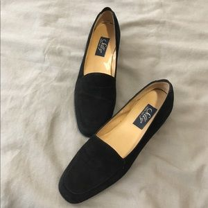 Vintage Selly Black Loafers Flats